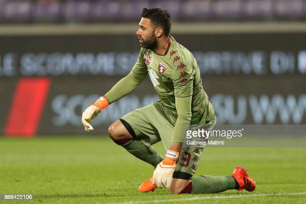 Salvatore Sirigu of Torino Fc in action during the Serie A match between ACF Fiorentina and Torino FC at Stadio Artemio Franchi on October 25 2017 in...