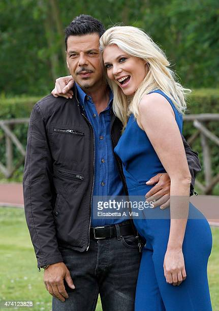 Salvo Sottile and Eleonora Daniele attend 'Estate In Diretta' Tv Show photocall at RAI on May 20 2015 in Rome Italy