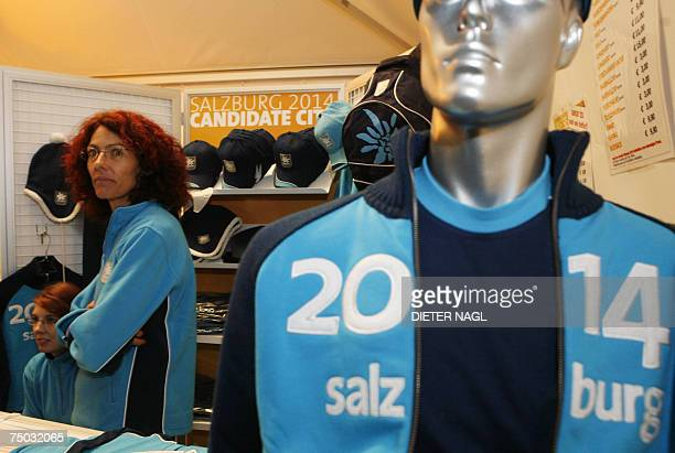 Souvenir vendors in Salzburg hear the news 04 July 2007 that their city did not win the 2014 bid to host the Winter Olympics Sochi Russia was...