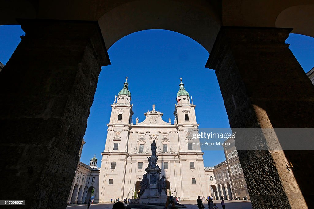 Salzburg, Cathedral, Domplatz : Stock Photo