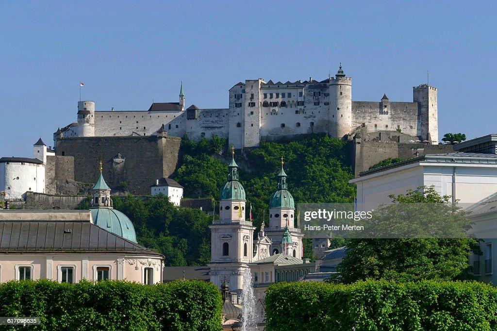 Salzburg, Cathedral, Fortress Hohensalzburg : Stock Photo
