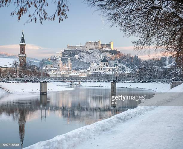 Salzburg Schnee bedeckt, Österreich