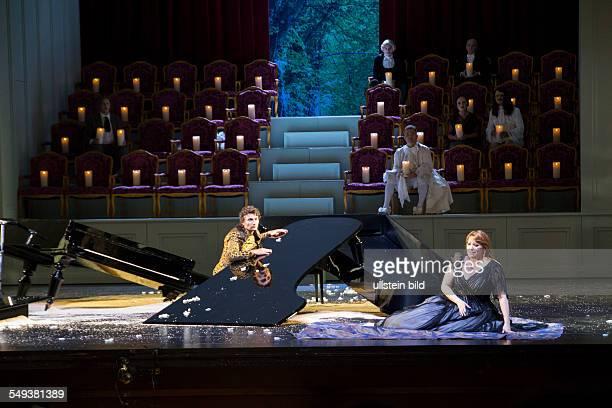 Ariadne on Naxos opera by Richard Strauss edited by SvenEric Bechtholf for the Salzburg Festival Singer Jonas Kaufmann and Emily Magee
