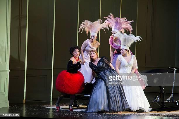 Ariadne on Naxos opera by Richard Strauss Actors/Singer Elena Mouc Emily Magee Eva Liebau MarieClaude Chappuis Eleonora Buratto