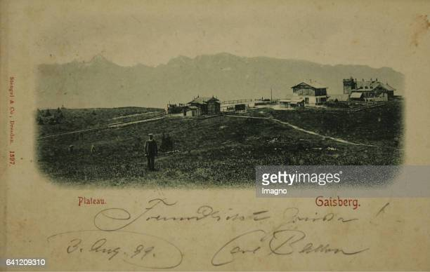 Salzburg Gaisberg Plateau 1899 Collotype Photograph and publishing by Stengel Co / Dresden