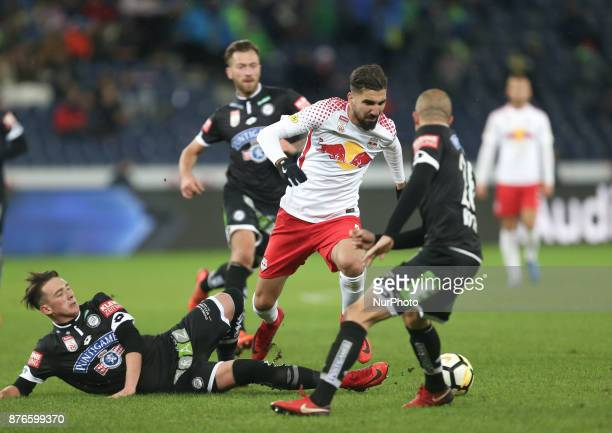 Salzburg's midfielder from Israel Moanes Dabour in action during Austrian Bundesliga match between Red Bull Salzburg and Sturm Graz at WalsSiezenheim...