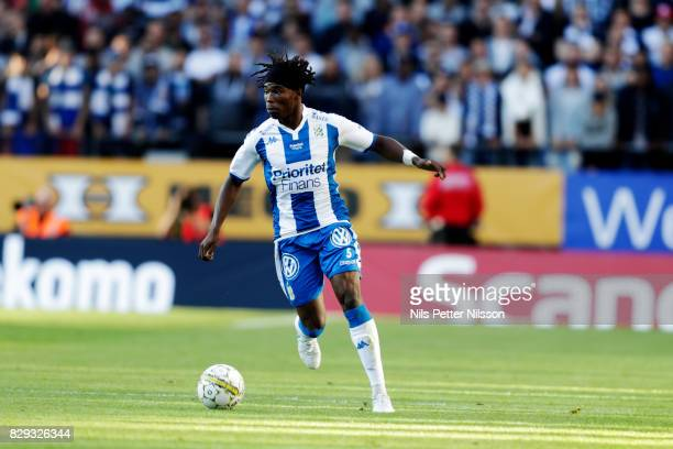 Sam Adekugbe of IFK Goteborg during the Allsvenskan match between IFK Goteborg and AIK at Gamla Ullevi on August 10 2017 in Gothenburg Sweden