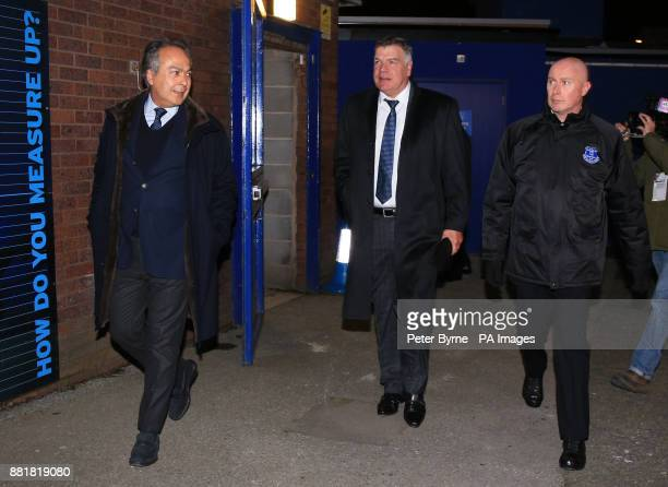 Sam Allardyce arrives at Goodison Park Liverpool with Everton Owner Farhad Moshiri