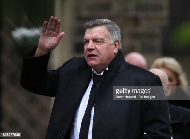 Sam Allardyce arrives for the funeral service of former Newcastle United chairman Freddy Shepherd at St George's Church in Jesmond