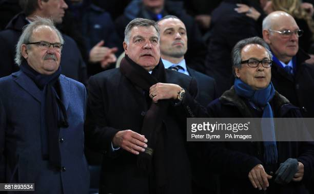 Sam Allardyce in the stands with Everton Owner Farhad Moshiri during the Premier League match at Goodison Park Liverpool