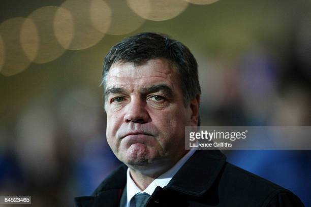 Sam Allardyce manager of Blackburn Rovers shows his disapointment after his team conceded a goal during the Barclays Premier League match between...