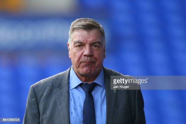 Sam Allardyce Manager of Everton arrives at the stadium prior to the Premier League match between Everton and Huddersfield Town at Goodison Park on...