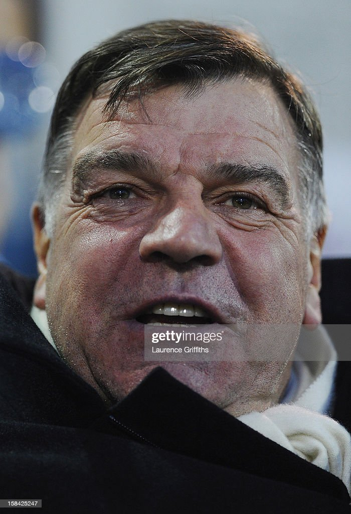 Sam Allardyce of West Ham United looks on during the Barclays Premiership match between West Bromwich Albion and West Ham United at The Hawthorns on December 16, 2012 in West Bromwich, England.