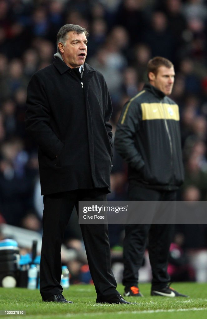 Sam Allardyce of West Ham United looks on during the npower Championship match between West Ham United and Barnsley at the Boleyn Ground on December 17, 2011 in London, England.