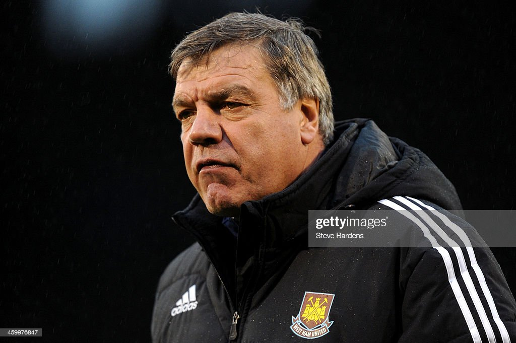 <a gi-track='captionPersonalityLinkClicked' href=/galleries/search?phrase=Sam+Allardyce&family=editorial&specificpeople=214691 ng-click='$event.stopPropagation()'>Sam Allardyce</a> the West Ham manager looks on during the Barclays Premier League match between Fulham and West Ham United at Craven Cottage on January 1, 2014 in London, England.