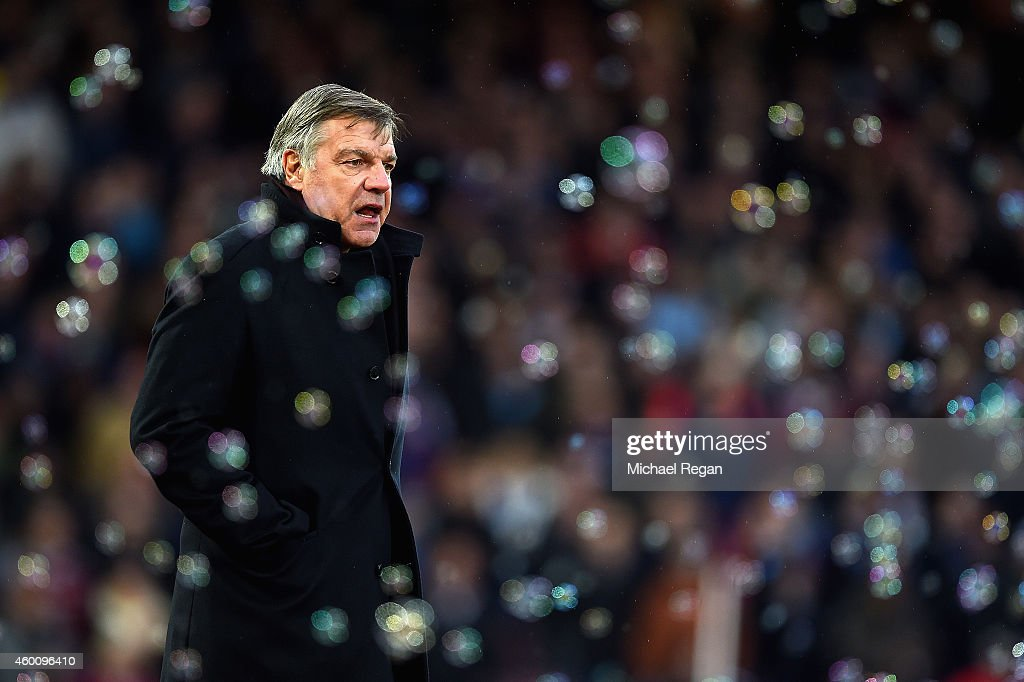Sam Allardyce the West Ham manager looks on during the Barclays Premier League match between West Ham United and Swansea City at Boleyn Ground on December 7, 2014 in London, England.