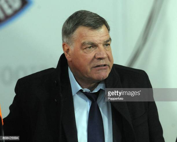 Sam Allardyce West Ham manager during the Barclays Premier League match between West Ham United and Manchester United at the Boleyn Ground on March...