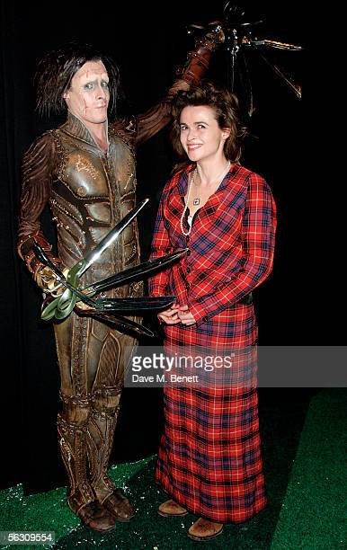 Sam Archer as Edward Scissorhands and Helena Bonham Carter pose after the show at the World Premiere of the theatrical production of 'Edward...