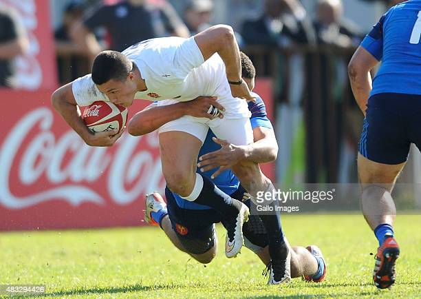 Sam AsplandRobinson of England during the SA Schools 2015 match between England U/18 and France U/18 at City Park on August 07 2015 in Cape Town...