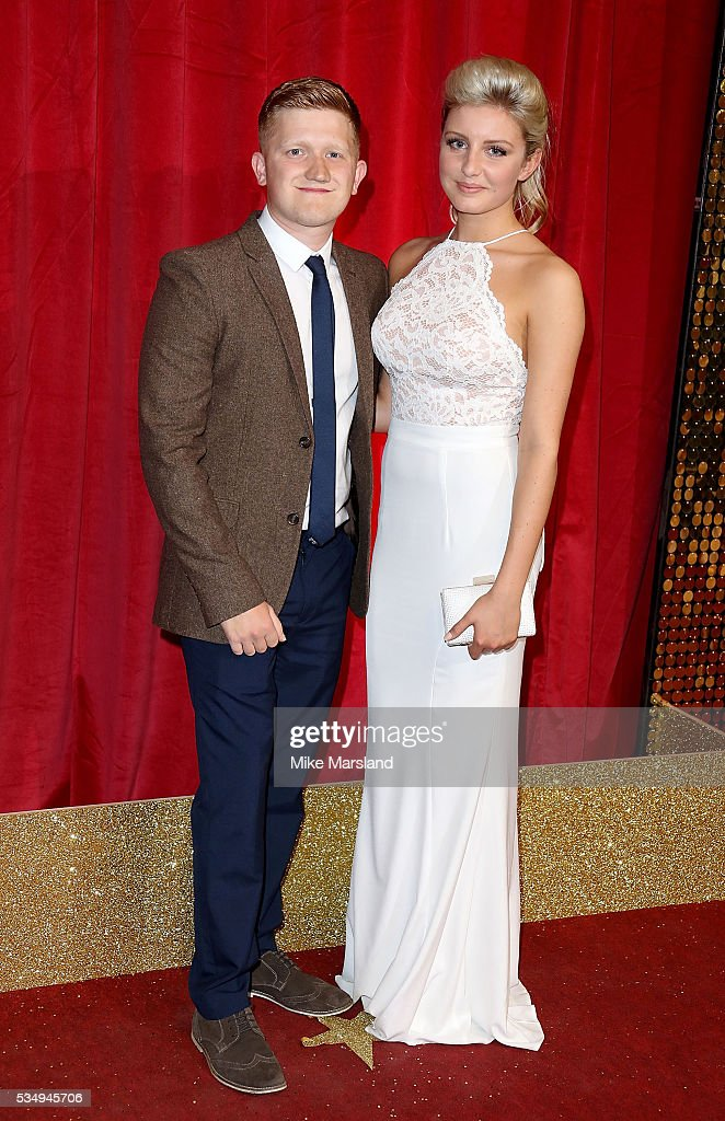 Sam Aston and Briony Gardner attend the British Soap Awards 2016 at Hackney Empire on May 28, 2016 in London, England.