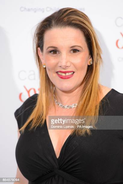 Sam Bailey arriving at the Caudwell Children Butterfly Ball at the Grosvenor House hotel in central London