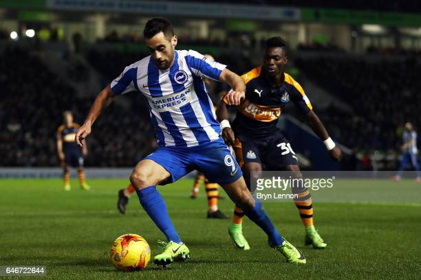 Sam Baldock of Brighton and Hove Albion in action during the Sky Bet Championship match between Brighton Hove Albion and Newcastle United at the Amex...