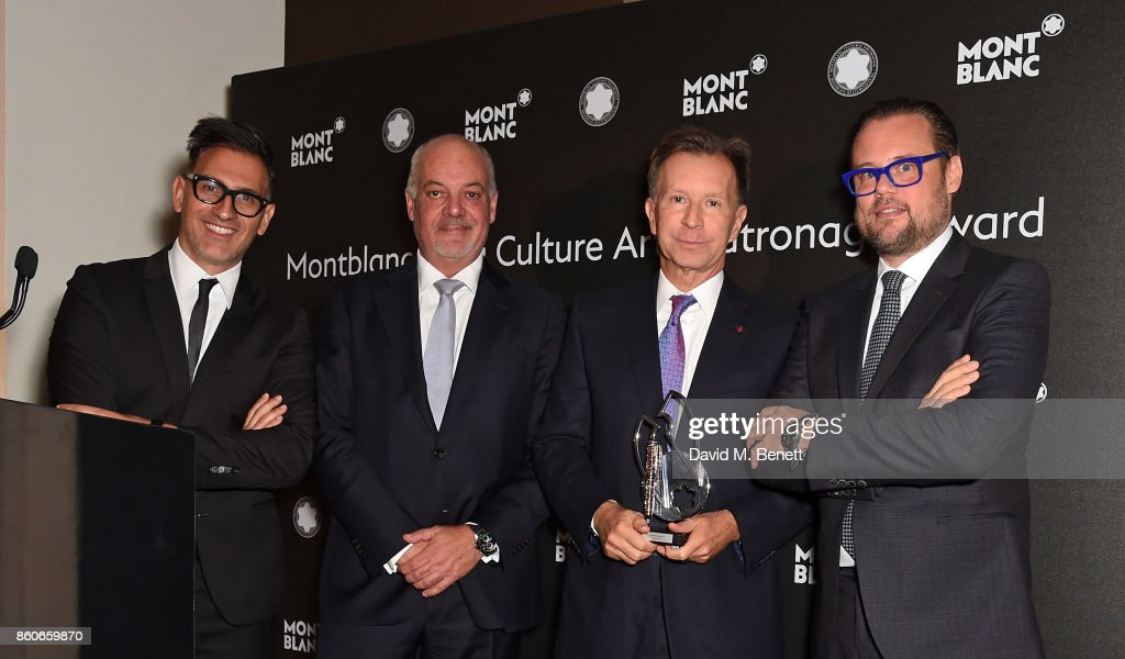 Sam Bardaouil, Kevin Boltman, John Studzinski and Till Fellrath attend the Montblanc de la Culture Arts Patronage Award for the work of the Genesis Foundation at The British Museum on October 12, 2017 in London, England.