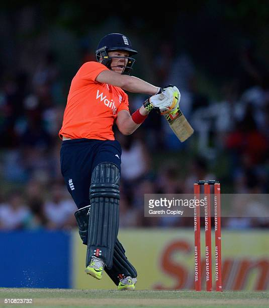 Sam Billings of England bats during the T20 Tour Match between South Africa Invitation XI and England at Boland Park on February 17 2016 in Paarl...