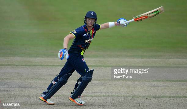 Sam Billings of Kent bats during the Natwest T20 Blast match between Gloucestershire and Kent at the College Ground on July 13 2017 in Cheltenham...
