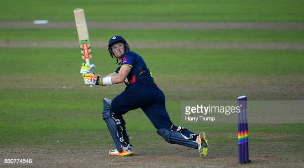 Sam Billings of Kent bats during the NatWest T20 Blast match between Somerset and Kent at The Cooper Associates County Ground on August 12 2017 in...