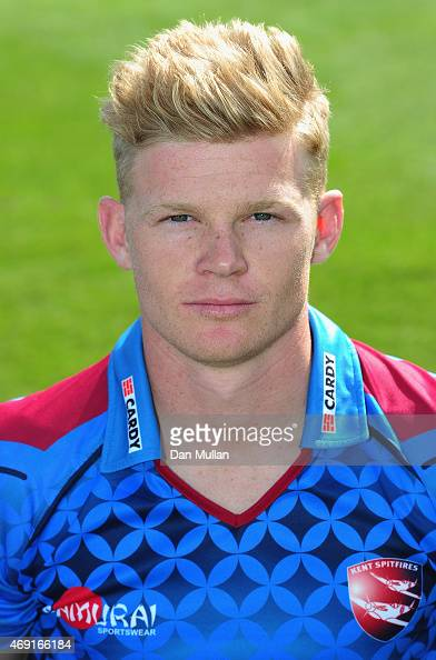 Sam Billings of Kent poses during the Kent CCC Photocall on April 10 2015 in Canterbury England
