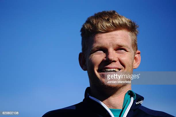 Sam Billings talks to the media during the Chance to Shine ECB Event at St Mary's and St Peter's CofE Primary on November 2 2016 in Richmond England