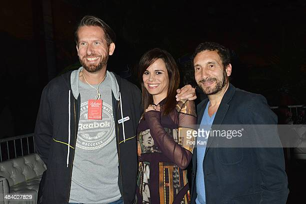 Sam Bobino Melissa Mars and Zinedine Soualem attend the 'Balsao WareHouse' Party At Docks De Paris Aubervilliers on April 10 2014 in Paris France