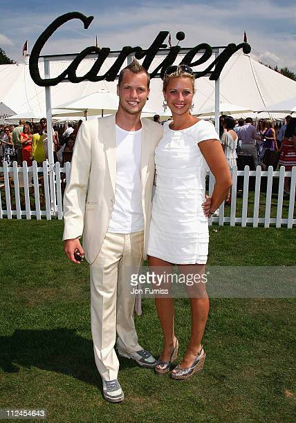 Sam Branson and Holly Branson at the Cartier Tent during the Cartier International Polo held at Guards Polo Club on July 27 2008 in Windsor England