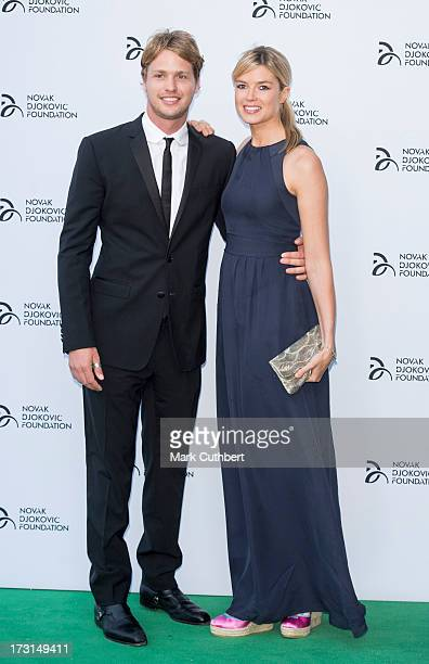Sam Branson and Isabella AnstrutherGoughCalthorpe attend the Novak Djokovic Foundation London gala dinner at The Roundhouse on July 8 2013 in London...