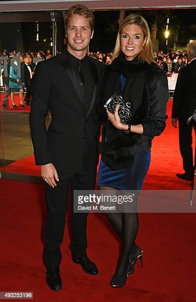Sam Branson and Isabella Calthorpe attend a gala screening of 'Steve Jobs' on the closing night of the BFI London Film Festival at Odeon Leicester...