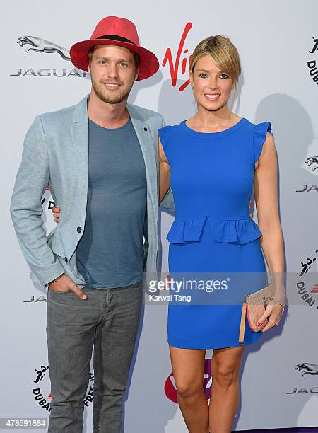 Sam Branson and Isabella Calthorpe attend the WTA PreWimbledon Party at Kensington Roof Gardens on June 25 2015 in London England