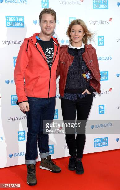 Sam Branson and Isabella Calthorpe attend We Day UK a charity event to bring young people together at Wembley Arena on March 7 2014 in London England