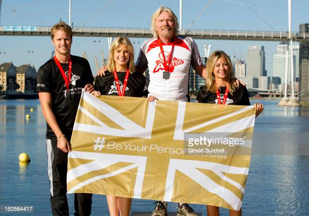 Sam Branson Isabella Calthorpe Sir Richard Branson and Holly Branson and Richard Branson attend a photocall ahead of the Virgin Active London...