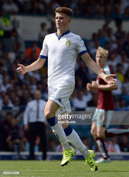 Sam Byram of Leeds United during the Sky Bet Championship match between Leeds United and Burnley at Elland Road on August 8 2015 in Leeds England