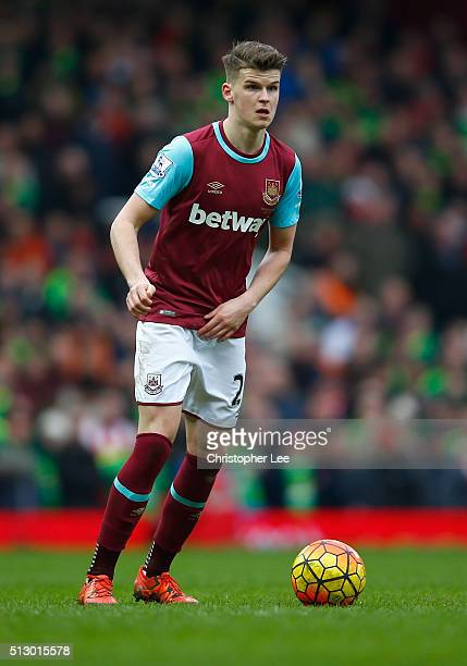Sam Byram of West Ham United during the Barclays Premier League match between West Ham United and Sunderland at the Boleyn Ground on 27 February 2016...