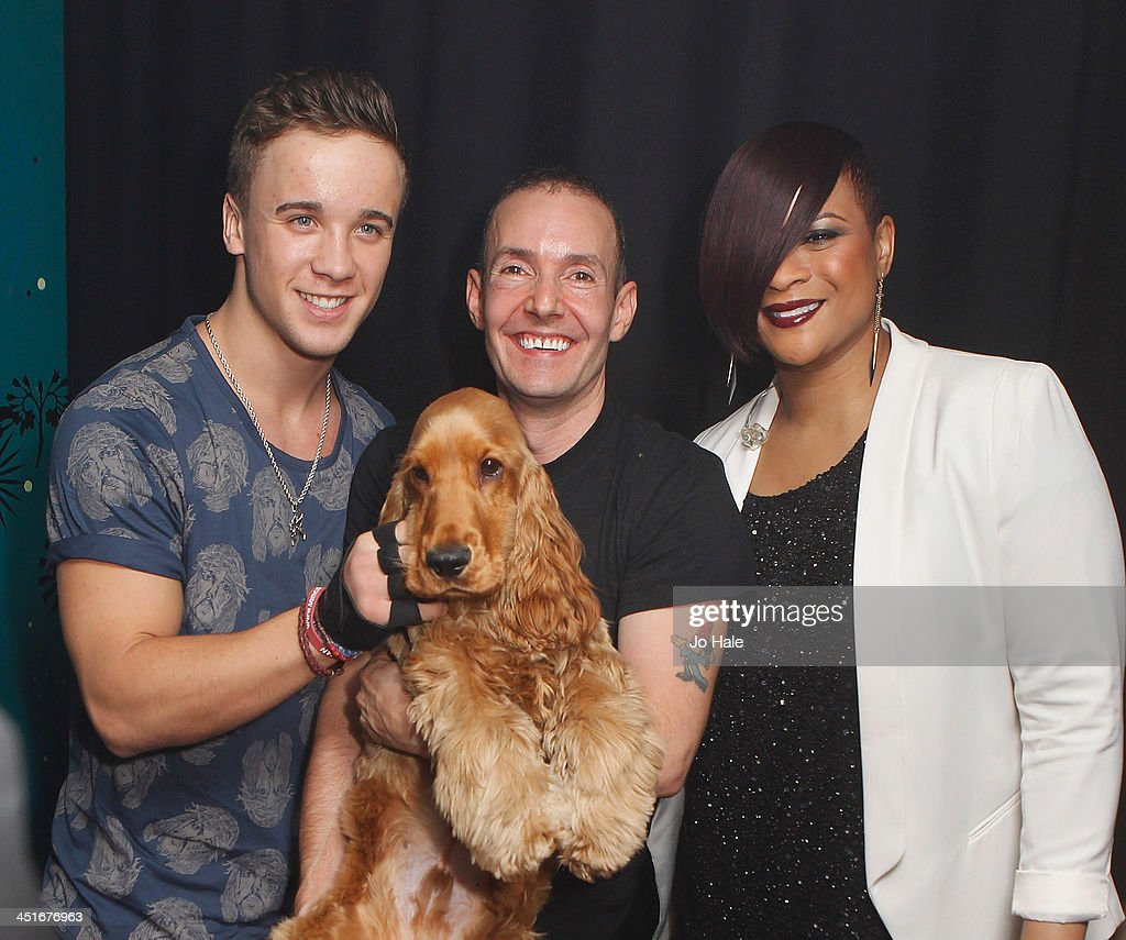 Sam Callaghan, Jeremy Joseph, Jacob and Gabrielle pose backstage at G-A-Y Heaven on November 24, 2013 in London, England.