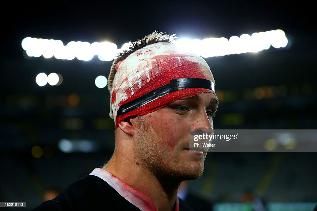 Sam Cane of the All Blacks following The Rugby Championship match between the New Zealand All Blacks and the South African Springboks at Eden Park on September 14, 2013 in Auckland, New Zealand.