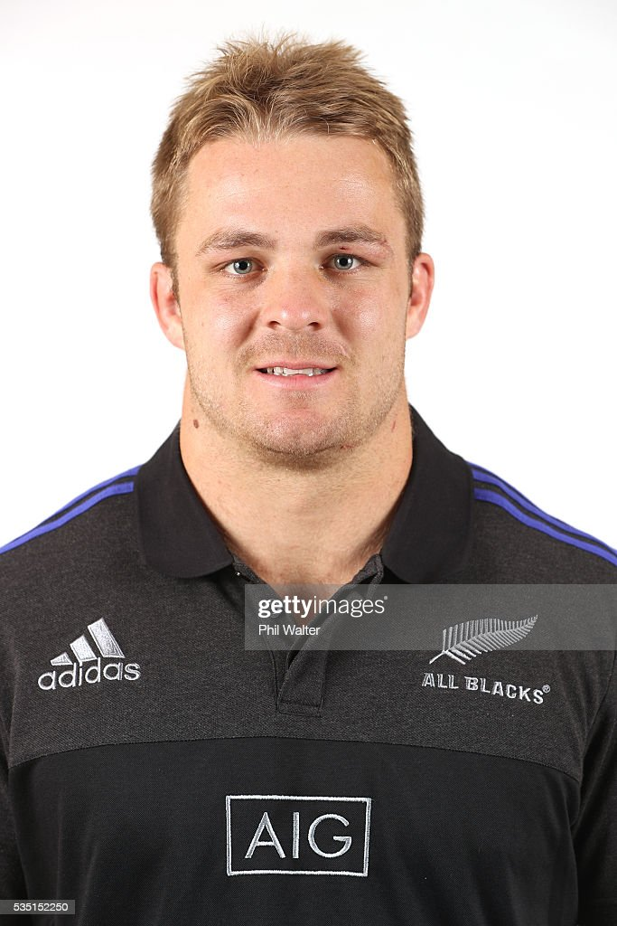 <a gi-track='captionPersonalityLinkClicked' href=/galleries/search?phrase=Sam+Cane&family=editorial&specificpeople=7799288 ng-click='$event.stopPropagation()'>Sam Cane</a> of the All Blacks poses for a portrait during a New Zealand All Black portrait session on May 29, 2016 in Auckland, New Zealand.