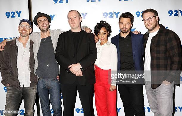 Sam Catlin Joseph Gilgun Garth Ennis Ruth Negga Dominic Cooper and Seth Rogen attend a screening of 'Preacher' at 92nd Street Y on May 19 2016 in New...