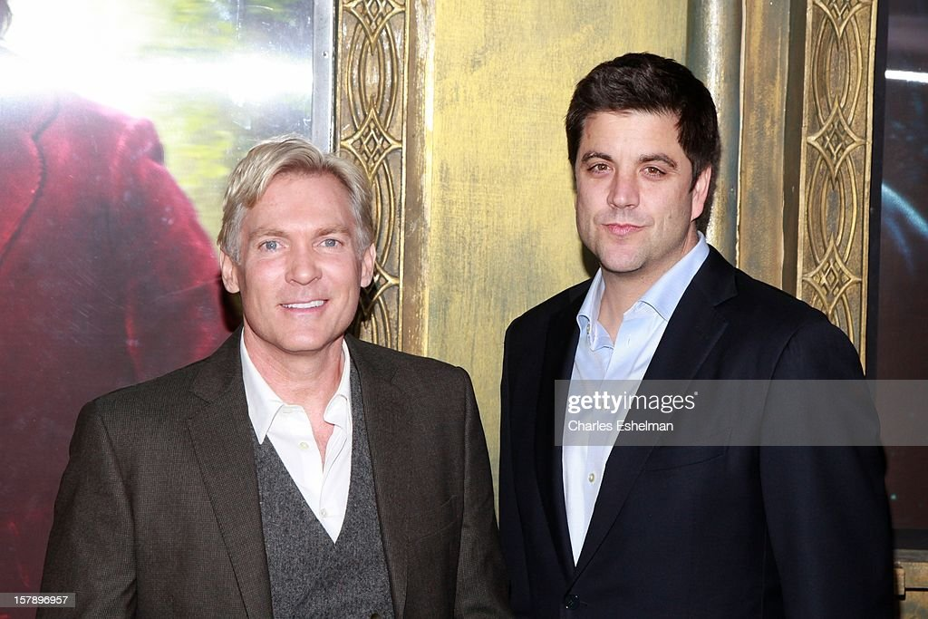 <a gi-track='captionPersonalityLinkClicked' href=/galleries/search?phrase=Sam+Champion&family=editorial&specificpeople=724932 ng-click='$event.stopPropagation()'>Sam Champion</a> and Josh Elliott attend 'The Hobbit: An Unexpected Journey' premiere at the Ziegfeld Theater on December 6, 2012 in New York City.