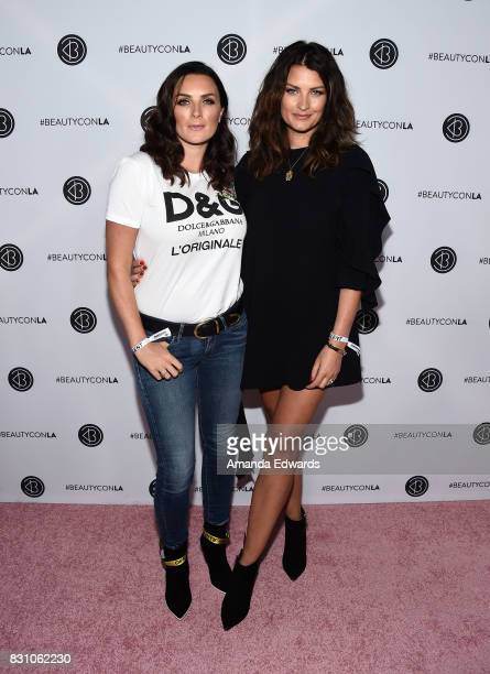 Sam Chapman and Nic Chapman of Pixiwoo attend the 5th Annual Beautycon Festival Los Angeles at the Los Angeles Convention Center on August 12 2017 in...