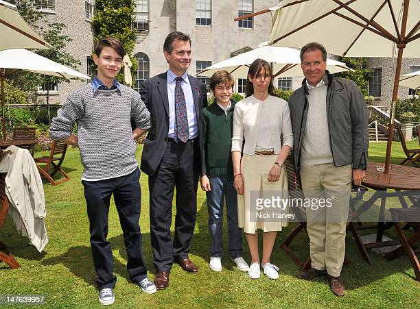 Sam Chatto Daniel Chatto Arthur Chatto Lady Sarah Chatto and Viscount David Linley attend Cartier Style Luxe Lunch Reception at Goodwood Festival of...