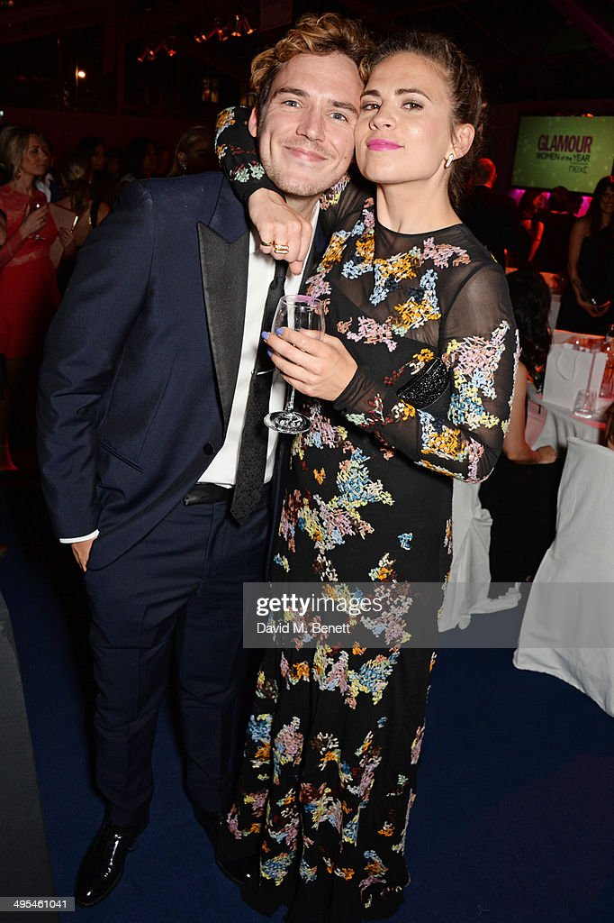 <a gi-track='captionPersonalityLinkClicked' href=/galleries/search?phrase=Sam+Claflin&family=editorial&specificpeople=7238693 ng-click='$event.stopPropagation()'>Sam Claflin</a> (L) and <a gi-track='captionPersonalityLinkClicked' href=/galleries/search?phrase=Hayley+Atwell&family=editorial&specificpeople=2331262 ng-click='$event.stopPropagation()'>Hayley Atwell</a> attend the Glamour Women of the Year Awards after party in Berkeley Square Gardens on June 3, 2014 in London, England.