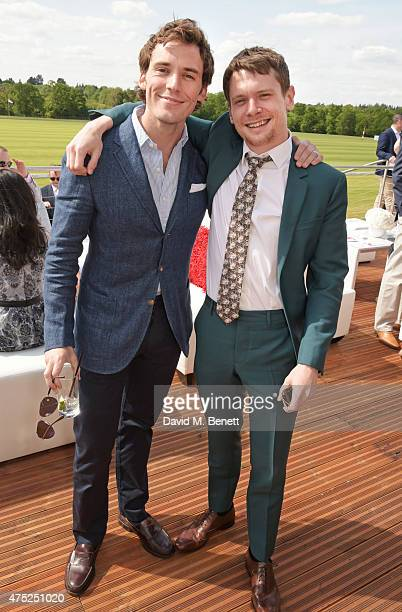 Sam Claflin and Jack O'Connell attend day one of the Audi Polo Challenge at Coworth Park on May 30 2015 in London England